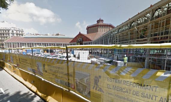 El Mercat de Sant Antoni en obras / Google Maps