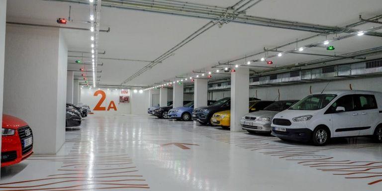 Interior de un parking de B:SM / ESPAIS B:SM