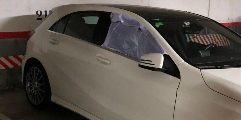 Varios coches han aparecido con los cristales rotos