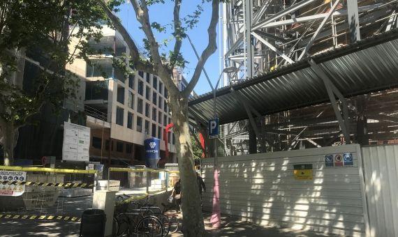 Inicio de las obras entre Passeig de Gràcia y la calle Casp de Barcelona / SC